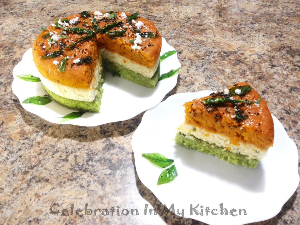 Tricoloured Dhokla