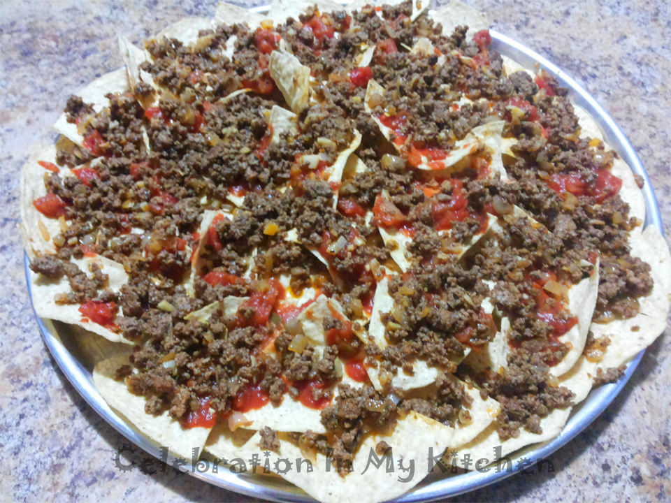 Nachos with Seasoned Beef