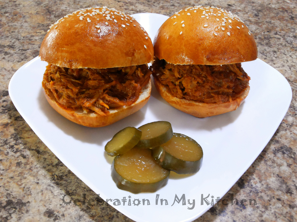 Pulled Pork on Homemade Buns
