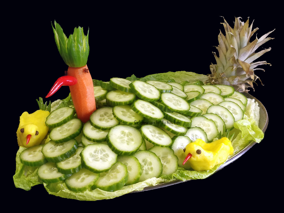 Bird of Paradise Russian Salad With Mashed Potatoes