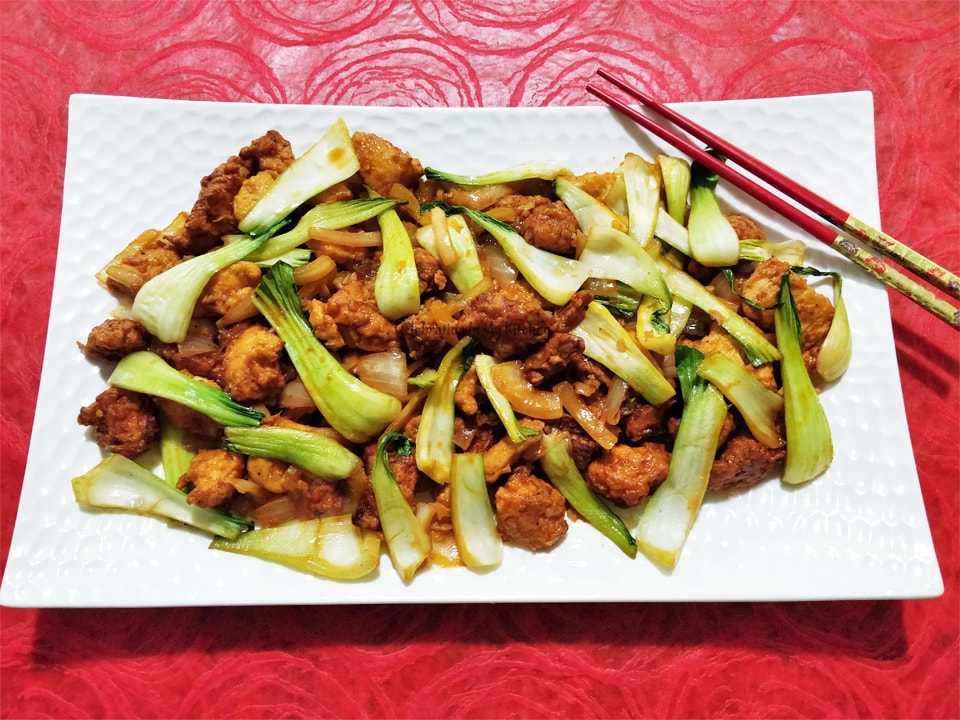 Spicy Chicken With Bok Choy