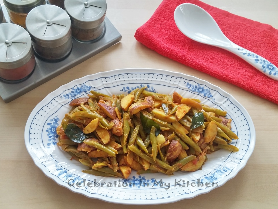Green Beans With Jackfruit Seeds