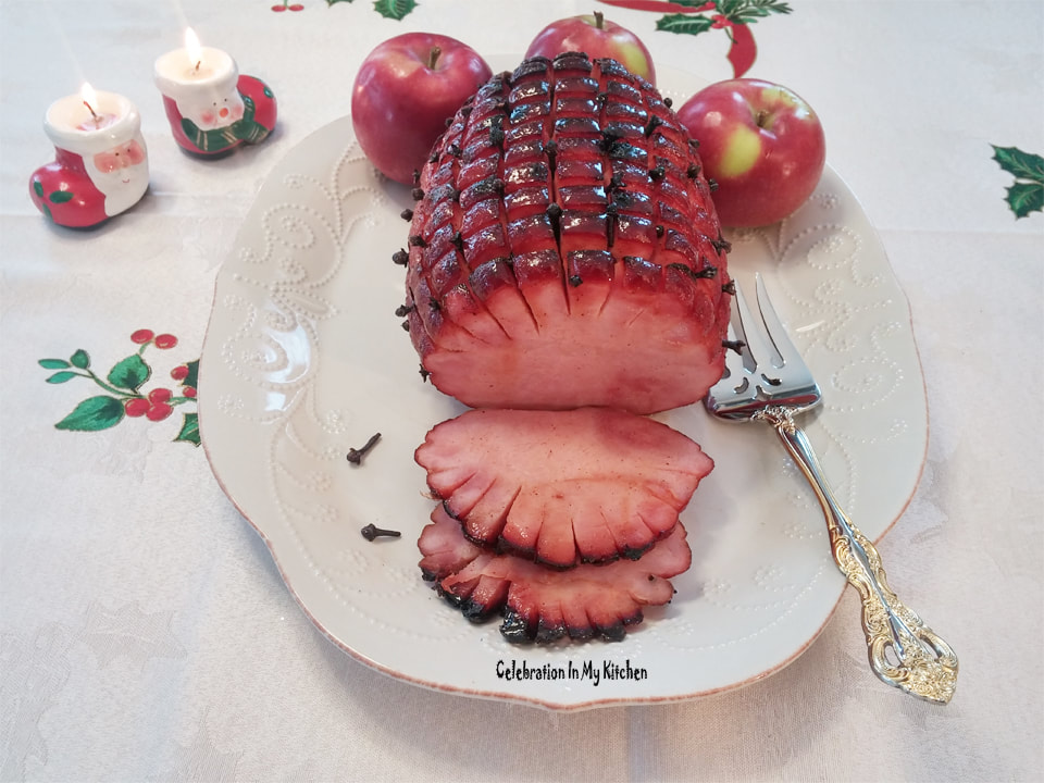 Baked Ham With Spiced Maple Honey Glaze