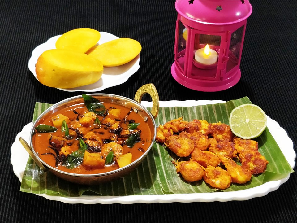Mangalorean Hot & Sour Prawn Curry With Potatoes